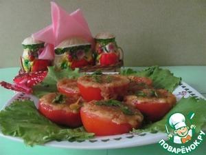 Рецепт Помидоры, запеченные с сыром в микроволновке или на гриле