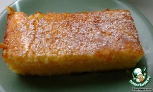 Рецепт Ленивый лимонный пирог