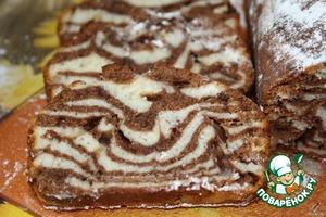 Рецепт Мраморный кекс на сгущенке