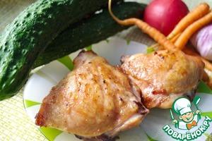 Рецепт Жареные куриные ножки в глазури из горчицы и белого вина