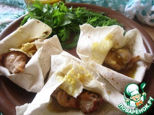 Рецепт Курица-гриль в лаваше