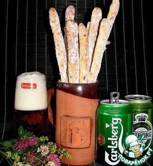 Рецепт Чесночно-сырные палочки к пиву