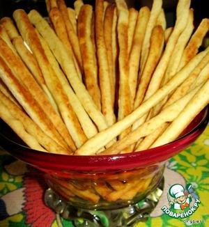 Рецепт: Сырная соломка