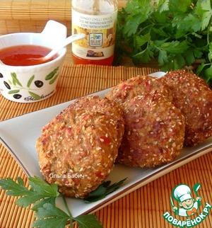 Рецепт Котлеты из баклажанов и перца