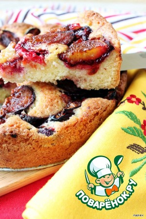 Plum cake from the