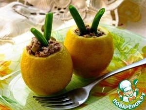 Рецепт Лимоны с салатом из тунца