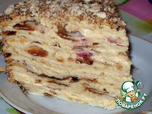 Торт слоеный сливочный