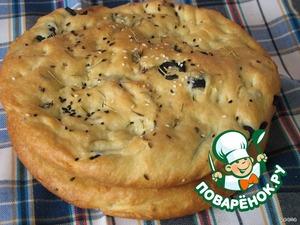 Рецепт Фокачча с пряными травами, маслинами и чесноком