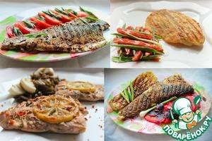 Рецепт Ассорти из рыбки гриль