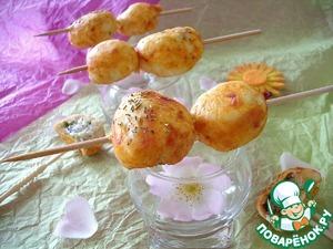 Рецепт Закусочные шашлычки с мясом и козьим сыром