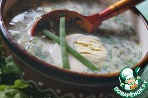 Рецепт Холодный суп с щавелем