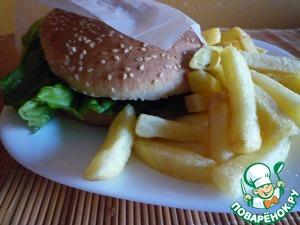 Рецепт Гамбургер на гриле
