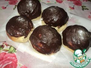 Рецепт Булочки с отрубями под кофейно-шоколадной глазурью