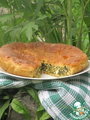 Рецепт Пирог с сыром тофу и шпинатом