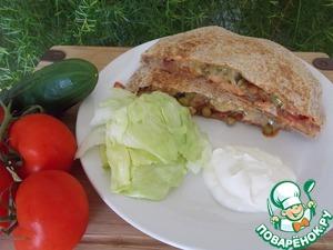 Рецепт Кесадийя с курицей и бобами (quesadilla)
