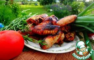 Рецепт Куриные крылышки в имбирно-медовой глазури