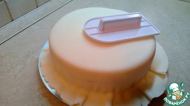 Как сделать рюшу из мастики на торт 90