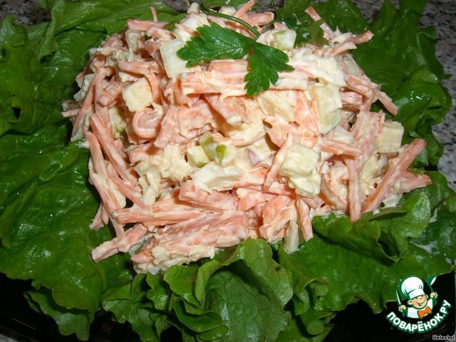 рецепт салата из моркови с хреном