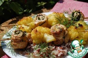 Рецепт Шашлык с цветной капустой и рисом
