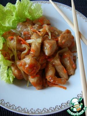 Рецепт Свинина по-китайски в кисло-сладком соусе