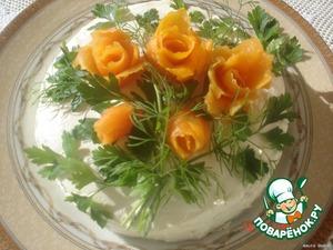Рецепт Закусочный торт из рыбных блинчиков
