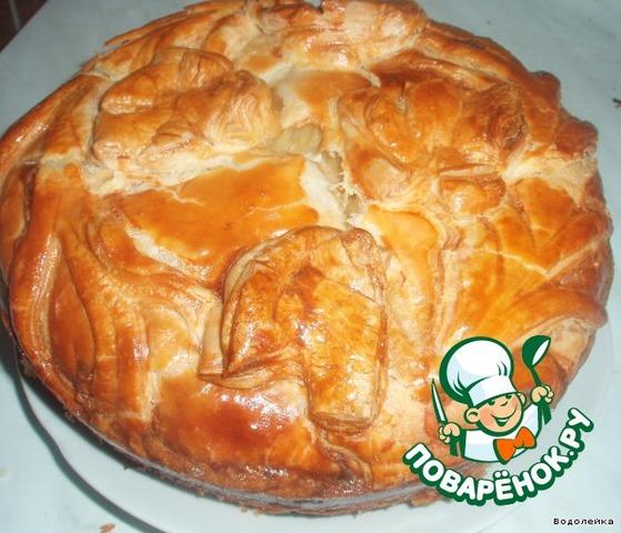 Пирог с луком с яйцом из слоеного теста рецепт 122