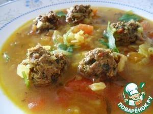 Рецепт Суп с ароматными фрикадельками