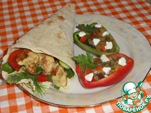 """Рецепт Разукрасим пикник вкусом: Домашний Чикен Ролл и салат """"Пикник"""" под уникальным соусом от Blue Dragon"""