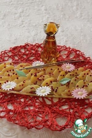 Рецепт Яблочные дольки в карамели