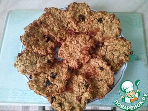 Рецепт Диетическое овсяное печенье с ананасом