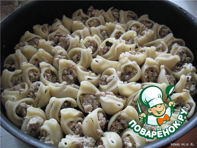 """Запеченные """"Ракушки"""" домашний рецепт приготовления с фото пошагово #5"""