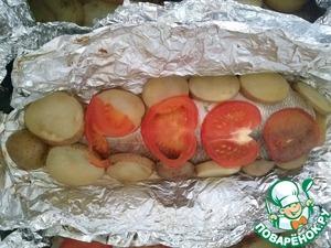 Рецепт Сиг запеченный с картофелем и помидором