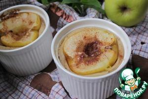 Рецепт Манный пудинг с яблоком