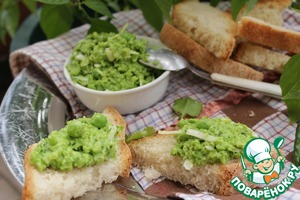 Рецепт Паштет из зеленого горошка