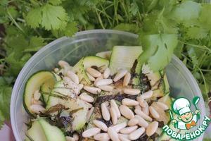 Рецепт Салат цуккини с кедровыми орешками
