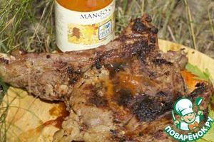 Рецепт Стейк из телятины на ребрышке в соевом и сладком соусе чили