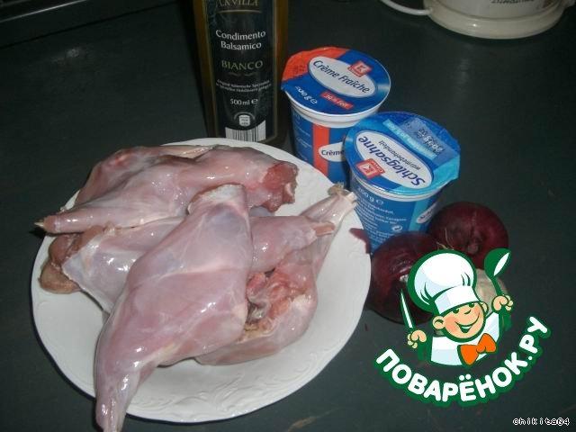 Кролик тушеный в сметанном соусе пошаговый рецепт