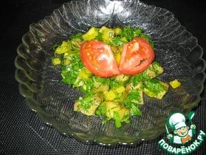 Рецепт Теплый салат с болгарским перцем и баклажанами