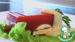 Рецепт Студень из томатного сока с яйцами
