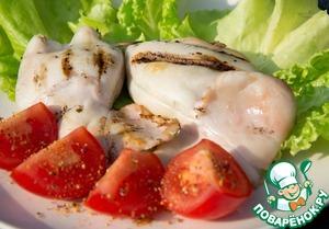 """Рецепт """"Торпеды""""-фаршированные кальмары-гриль"""