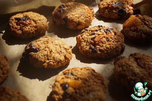 Рецепт печенья с курагой и шоколадом