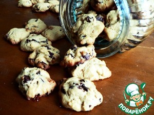 Рецепт Печенье с шоколадной и карамельной крошкой