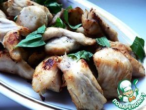 Рецепт Маринованные куриные кусочки в белом вине с лимоном и базиликом