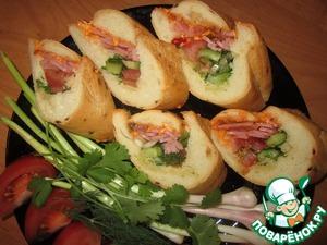 Рецепт Французский деревенский сэндвич с кисло-сладким соусом