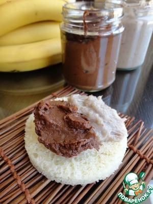 Рецепт Банановый крем с белым и темным шоколадом