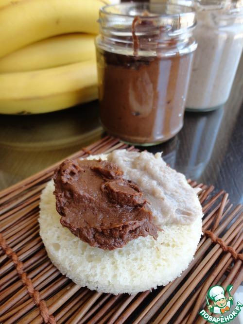 Банановый крем с белым и темным шоколадом