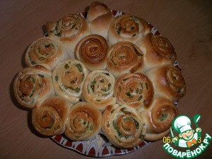 Рецепт Завитки с зеленым луком