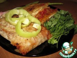 Рецепт Конвертики из лаваша с овощами в кисло-сладком соусе