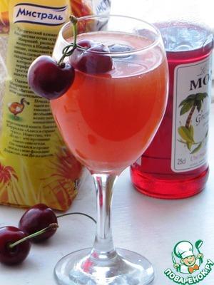"""Рецепт Апельсиновый коктейль с сиропом """"Гренадин"""""""