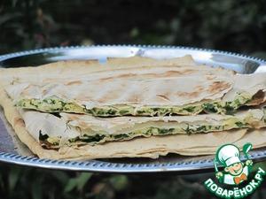 Рецепт Лаваш а-ля хачапури гриль